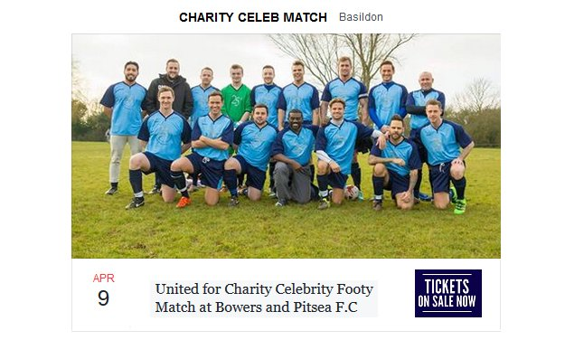 Tickets Are Now On Sale For The 2nd Annual Essex Celebrity FootballEvent https://t.co/YKy40EL5so