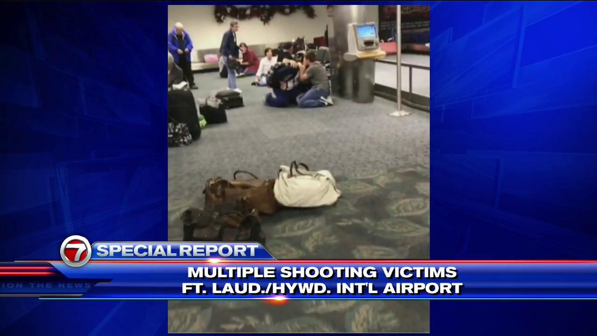 Video released from inside Fort Lauderdale airport baggage claim area https://t.co/QVfWnhhNiE