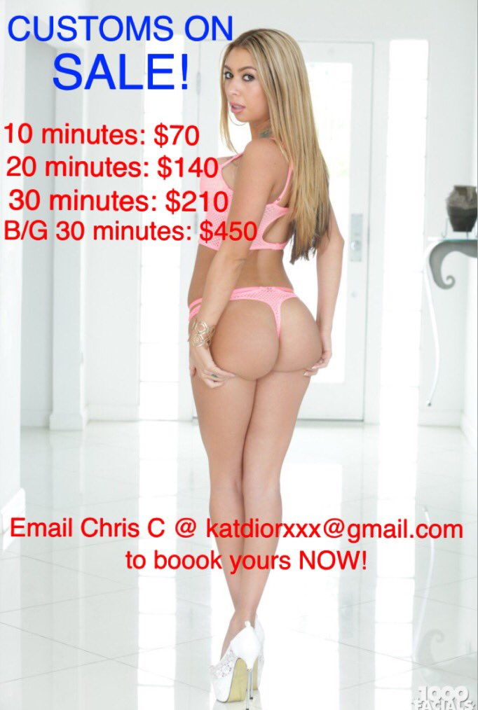 SALE! 🔥 Order your Customs/Skype show NOW! katdiorxxx@gmail.com https://t.co/GQ6z1fK9AB