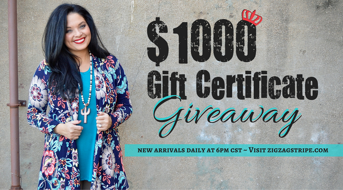 Win $1000 Gift Certificate Giveaway