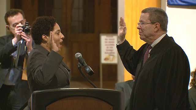 Kim Gardner sworn in as St. Louis' first African American Circuit Attorney https://t.co/OVVyJ0J1Md https://t.co/E9512IC2vo