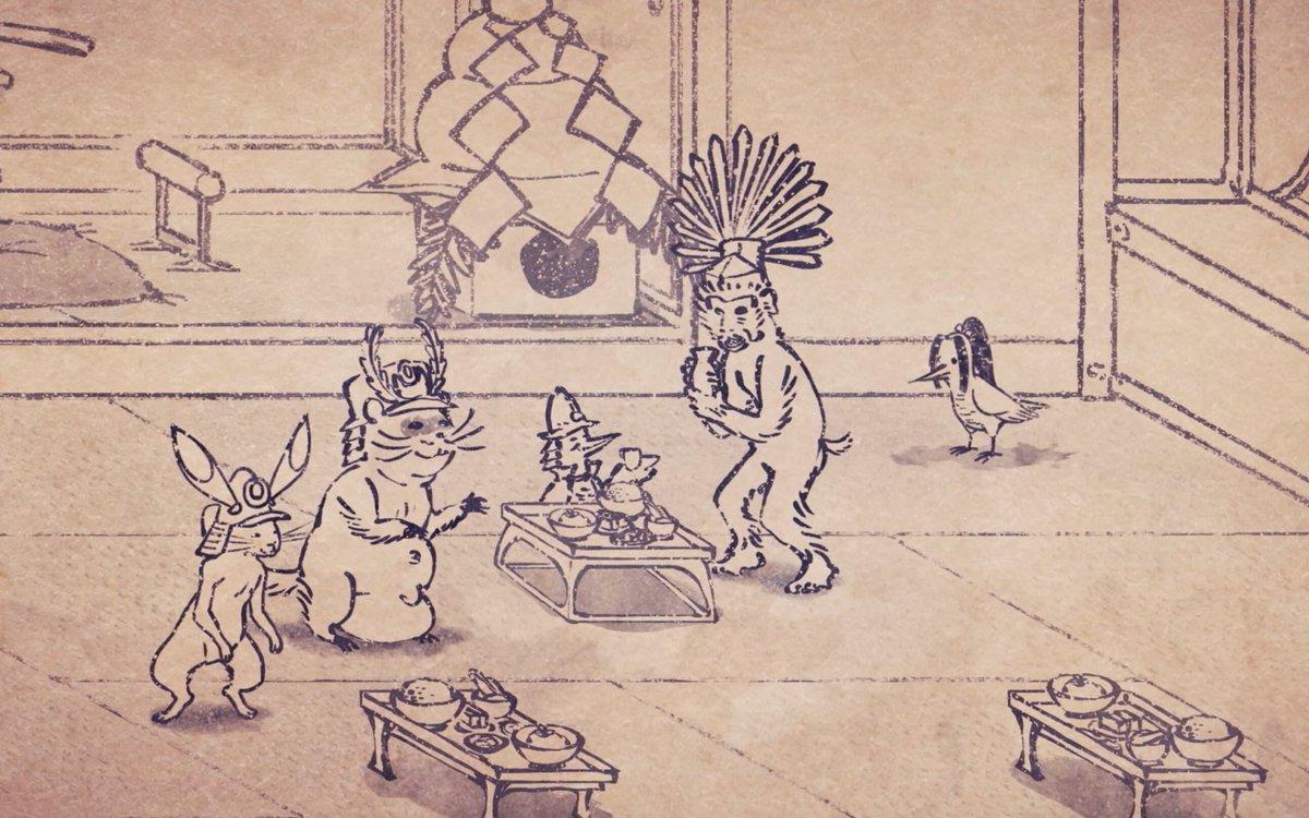 【第十三話「お正月」放送!】本日、第十三話「お正月」放送!「戦国鳥獣戯画〜甲〜」は本日が最終回!来週からは「乙」が始まり