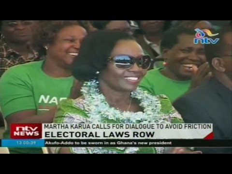 Martha Karua calls for dialogue on electoral laws row to avoid friction