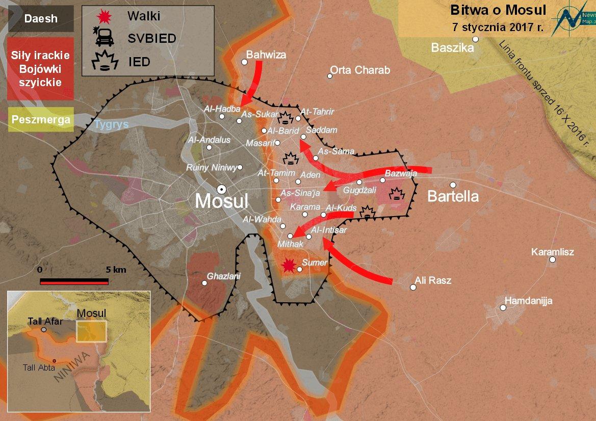 Mosul: irackie siły osiągnęły rzekę Tygrys   NewsMap.pl