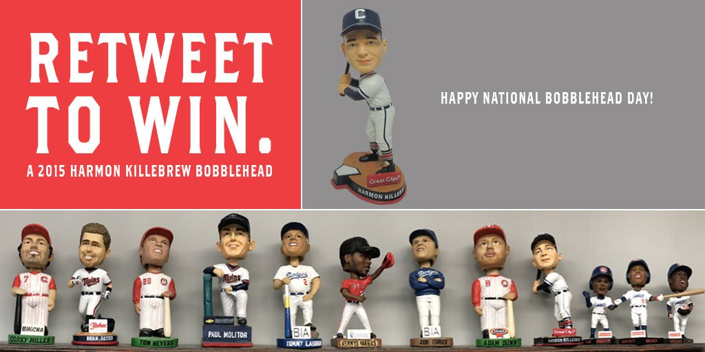 More #bobblehead fun. RT by midnight tonight (1.7) for a chance to win! #NationalBobbleheadDay https://t.co/xMWFbxPysM