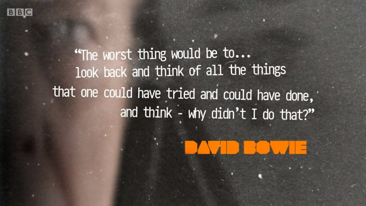 Forever inspiring #Bowie #TheLastFiveYears https://t.co/ULORJCxfY5