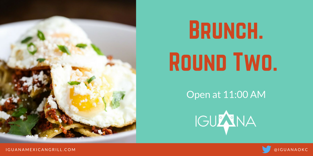 Round Two, boys and girls. We'll see you tomorrow for $1.00 mimosas and the best brunch in OKC.