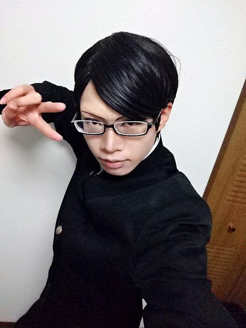 イエーーイ!坂本くん(ウィッグあり)で宅コス相変わらず一眼レフが欲しいですぜ!!#コスプレ #坂本ですが?