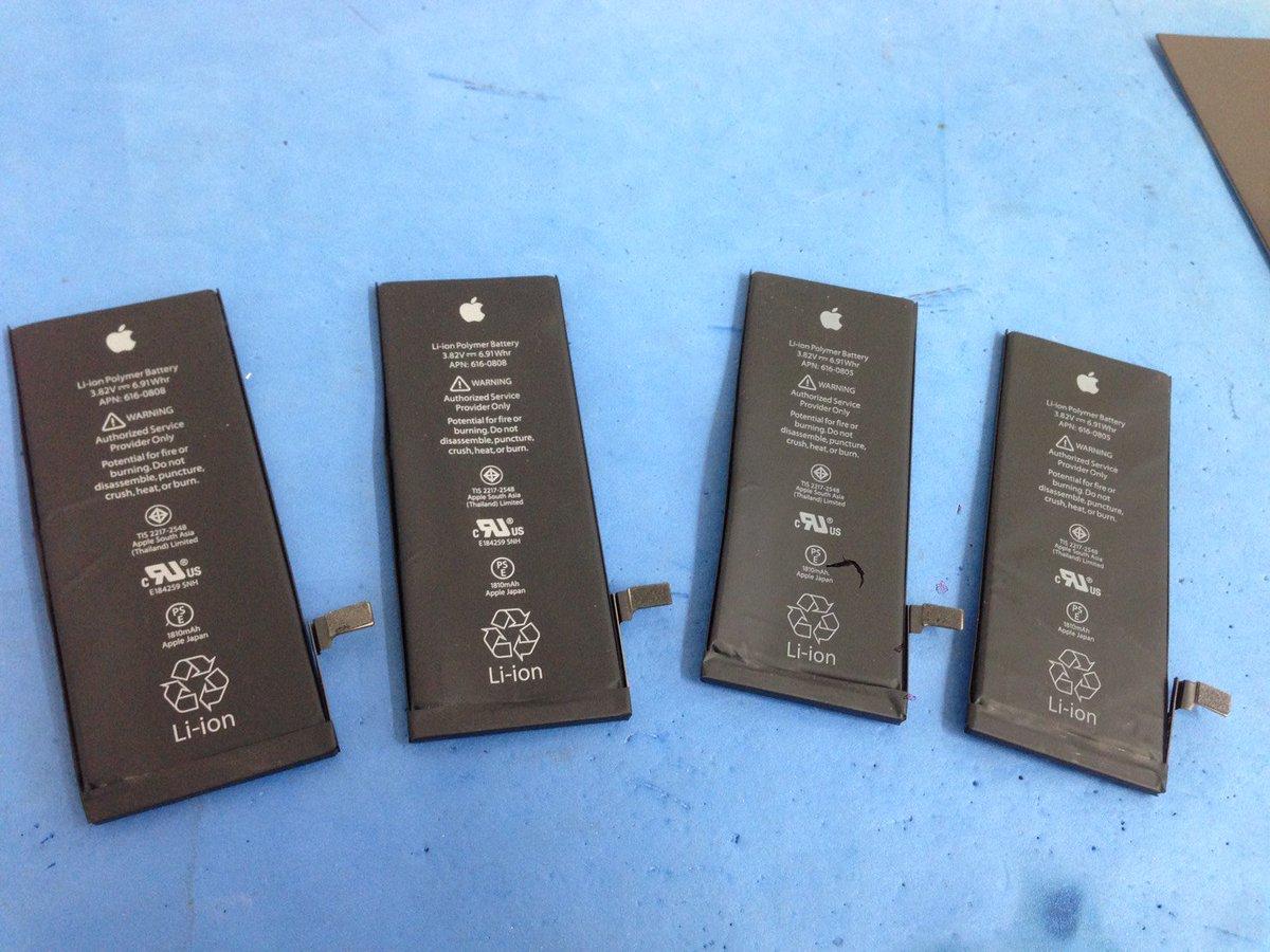 こんにちは!本日はすでに4台のiPhone6のバッテリー交換をさせていただきました^^年明けから大変多くのiPhone6