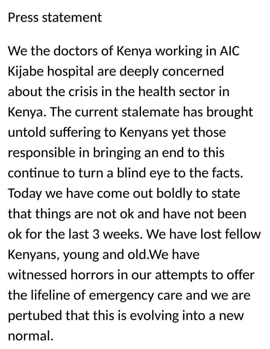 Your medical cover will not help you at Kijabe... https://t.co/e71yms7YzI