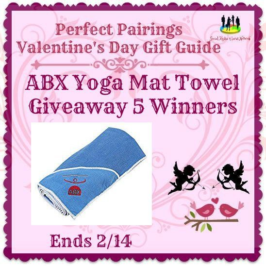 ABX Yoga Mat Towel #Giveaway 5 Winners Ends 2/14