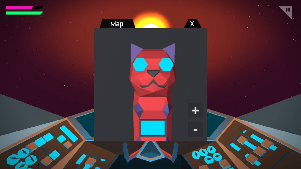 Not sure how but Kitcat took over my mini map #ohno #gamedev https://t.co/nmqsWiMiSG
