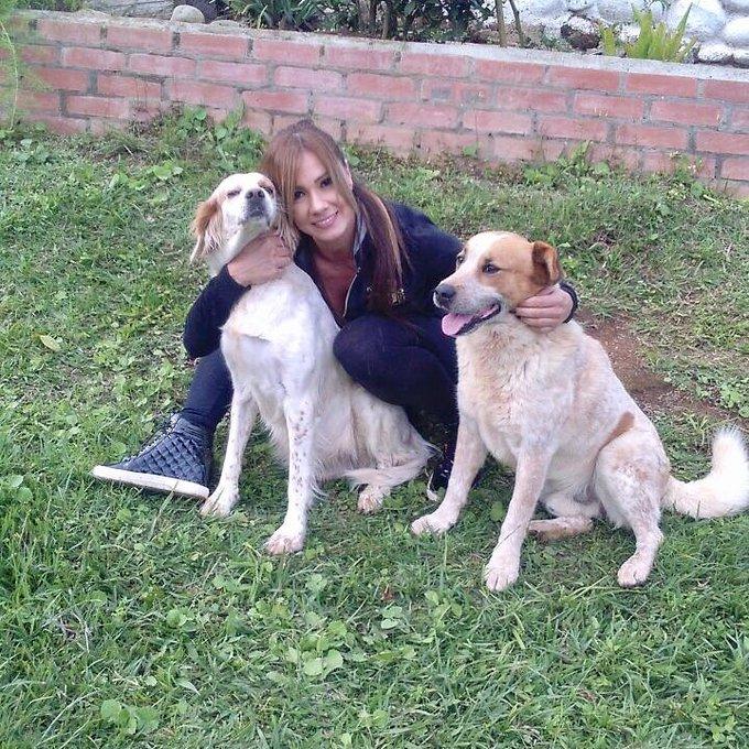 Lindo día junto a estos dos hermosos perritos, les mando muchos besitos y ojalá tengan un rico domingo