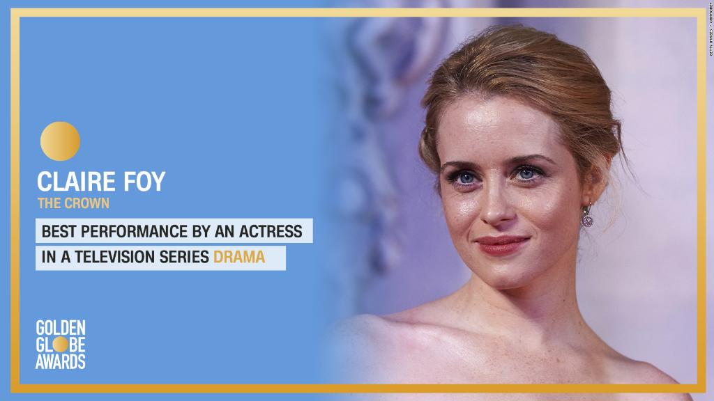 Claire Foy wins Best Actress in a Television Series - Drama for #TheCrown. #GoldenGlobes https://t.co/Yicupn4pdJ https://t.co/O7cOHJaHDt