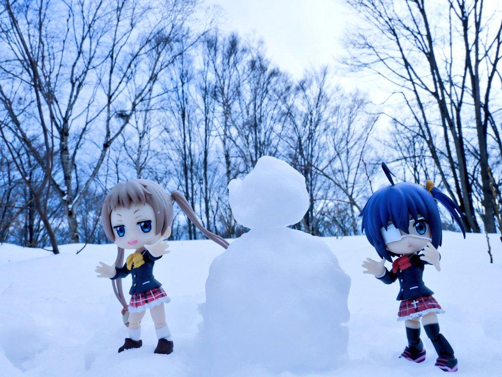 雪遊び。#キューポッシュ#chu2koi