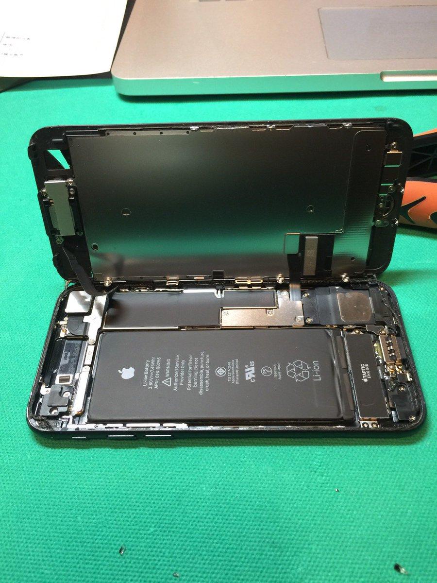 iPhone7/7 Plusの画面割れ修理も受付開始いたしました^^写真は先日修理させていただいたiPhone7です。今