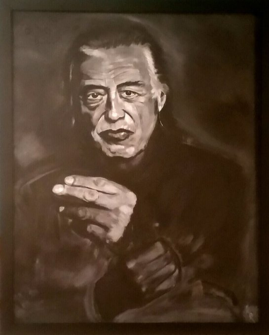 Happy birthday Jimmy Page.  Here is a painting I did.
