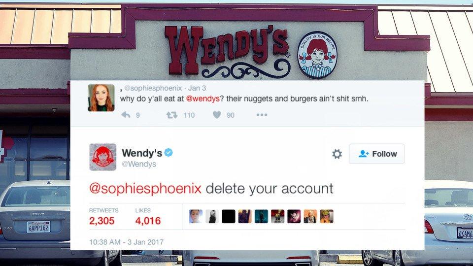 RickeySmiley : Wendy's is not pl