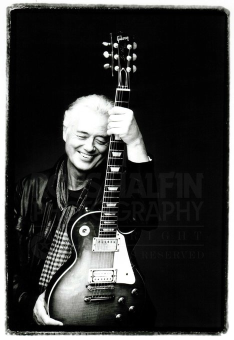 Happy Birthday Jimmy Page. This photo hangs in The National Portrait Gallery in London.