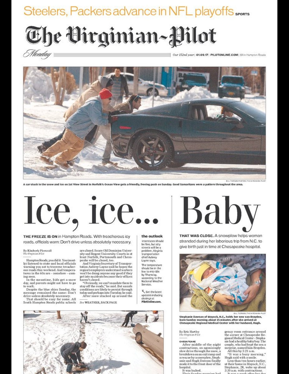 Early nominee for best newspaper front page of the year (via @charlesapple and @capitalweather) https://t.co/thp7SVIEFB