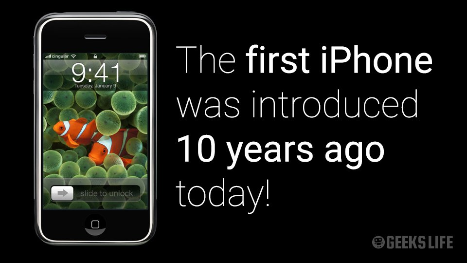 The first #iPhone was introduced by Steve Jobs ten years ago today! https://t.co/XQmWIYPumx