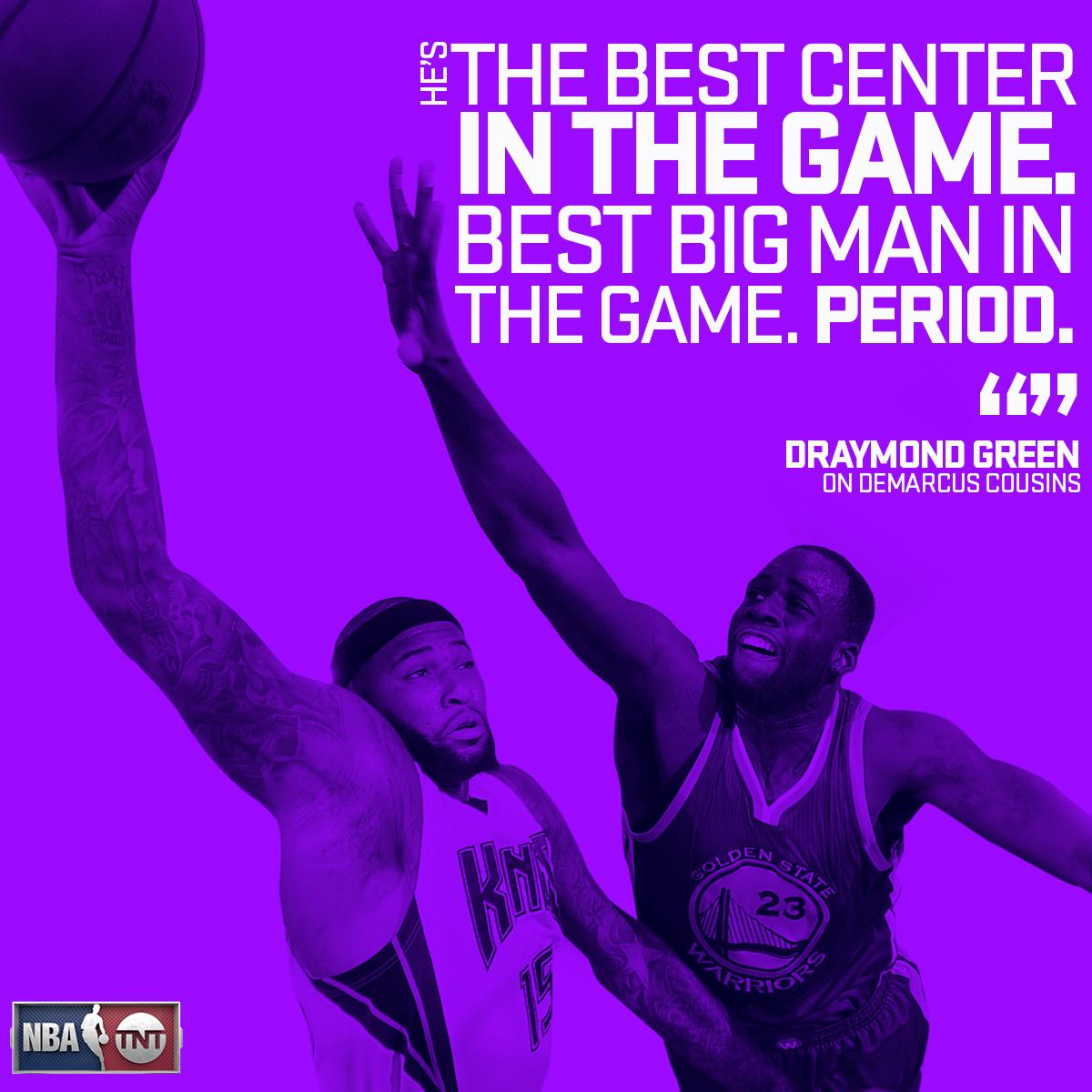 Draymond has high praise for @boogiecousins... https://t.co/Z3Ypvurh7P