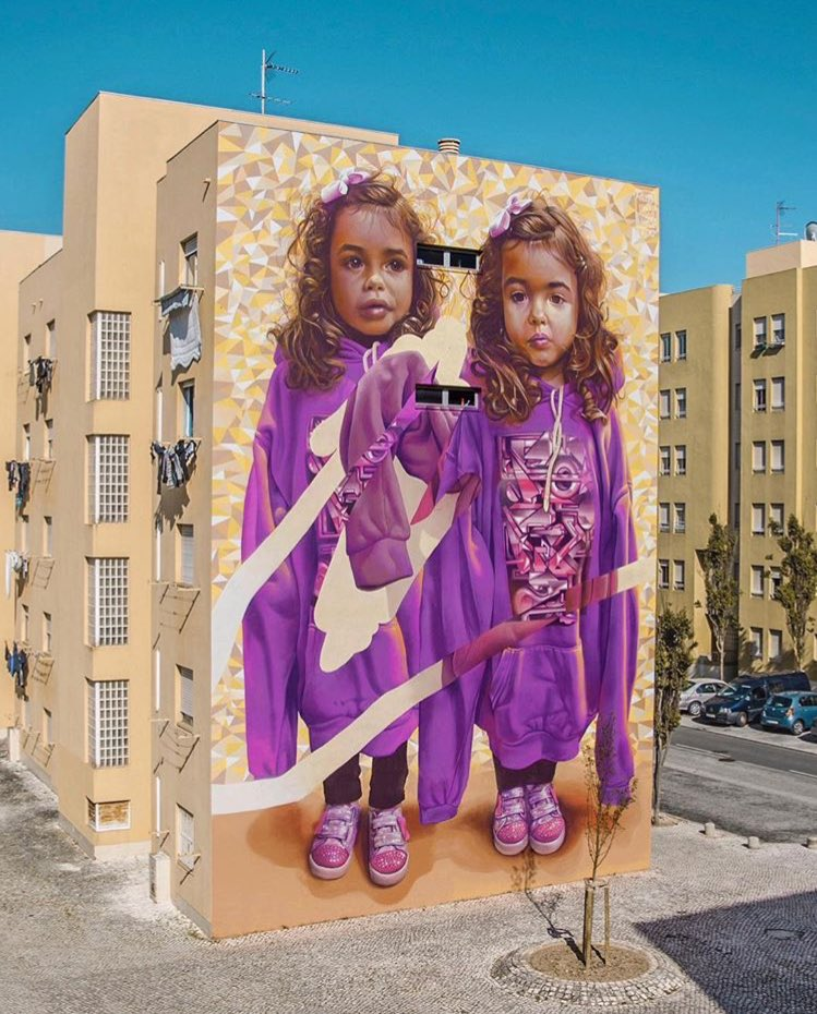 Street Art by Telmo Miel & Parizone   📍 Lisbon Portugal 🇵🇹  #art #mural #graffiti #streetart