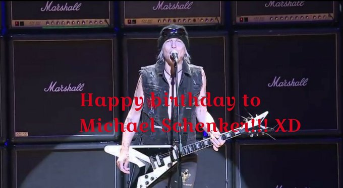 Happy birthday to Michael Schenker. In 2017, he will come to Japan and will play a guitar!!! XD