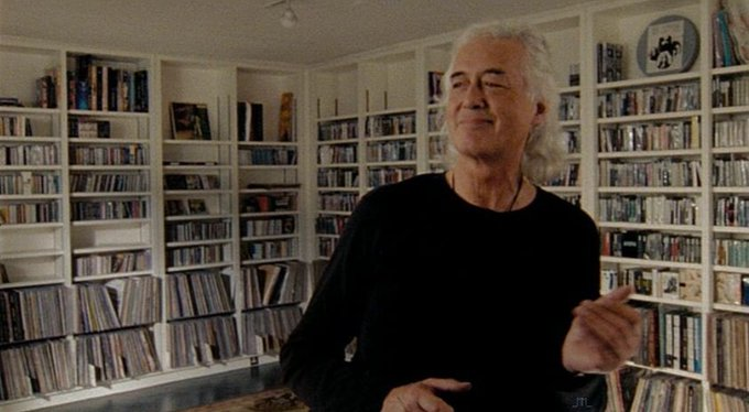 """Happy Birthday to Jimmy Page! Here\s a clip of him playing \""""air guitar\"""". Cute!"""