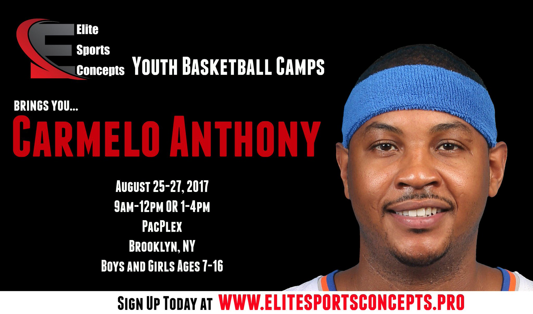 Excited to announce my upcoming @EliteSportsCon2 Youth Basketball Camp in BKLYN! Sign up now https://t.co/Snk8vXUvfM https://t.co/FQQY7qmrDg