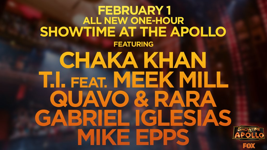 #ShowtimeApollo is back! Tune in February 1 with host @IAmSteveHarvey and some incredible guests. 🎤