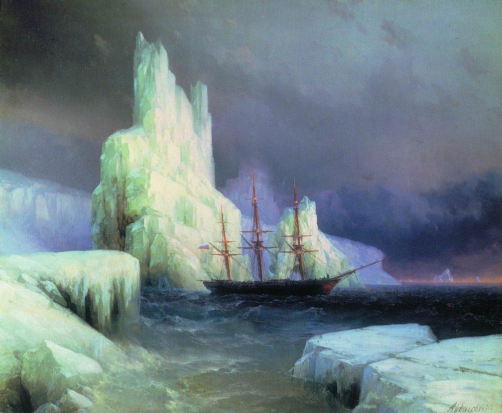 Icebergs in the Atlantic Ivan Aivazovsky, 1870 #art https://t.co/pSjGg78ifP https://t.co/fC6KTz07Tq