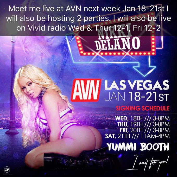 Meet me live next week Jan 18-21st at @AEexpo I'll be signing for @DoYouYummi booth and hosting @VividRadioSXM
