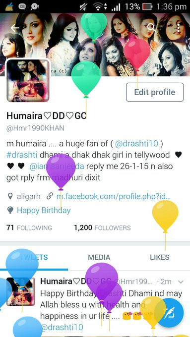 Loving my profile    Happy Birthday Drashti dhami