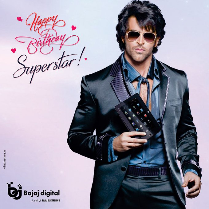 Bajaj Digital wishes Hrithik Roshan a very happy birthday!