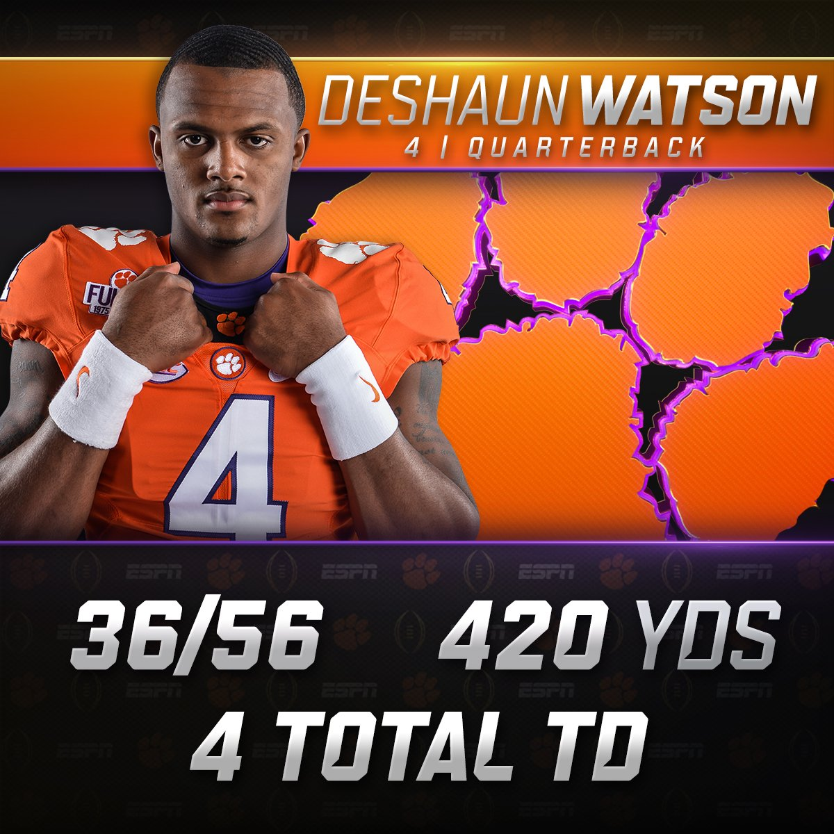 Deshaun Watson was a man on a mission tonight.  Mission accomplished. ✅ https://t.co/AKeUdao2H0