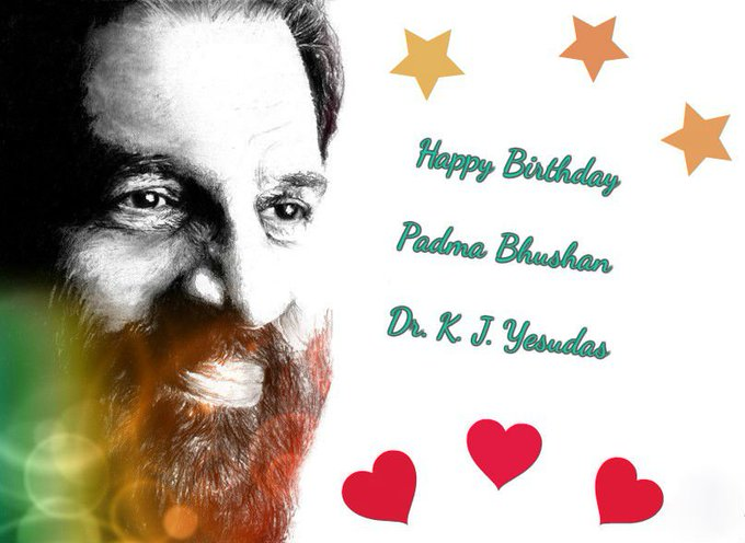 Wishes Padma Bhushan Dr.K.J.Yesudas a Very Happy Birthday!!!