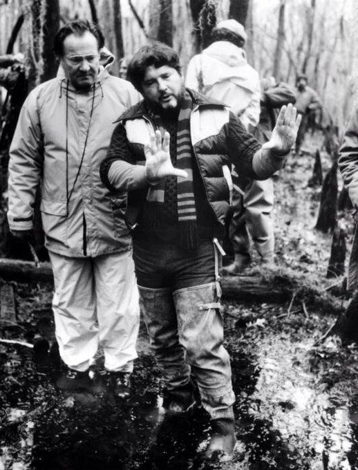 Happy 75th birthday to Walter Hill, seen here with DP Andrew Laszlo on the set of \Southern Comfort\ (1981).