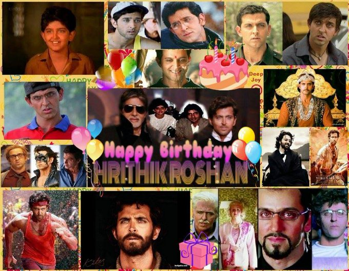 Happy Birthday Very Handsome Cool Stylish & Great Actor Of Bollywood.. Hrithik Roshan...