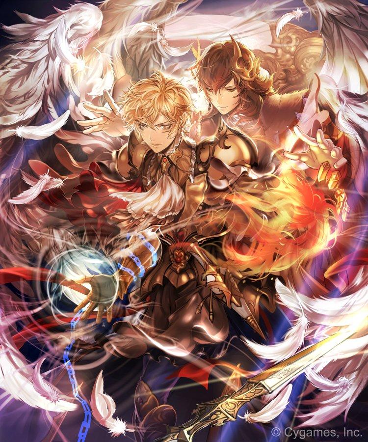 神撃のバハムートのイベント「サタンの逆襲」に登場する,レイ(CV遊佐浩二さん)を描かせていただきました。3度目の登場で、