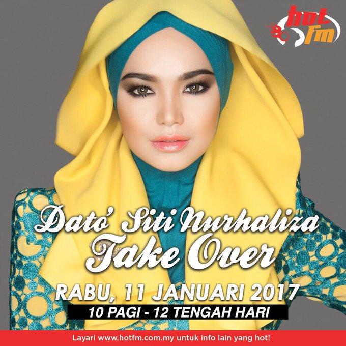 Happy Birthday Dato Siti Nurhaliza! Esok Dato Siti jadi penyampai radio
