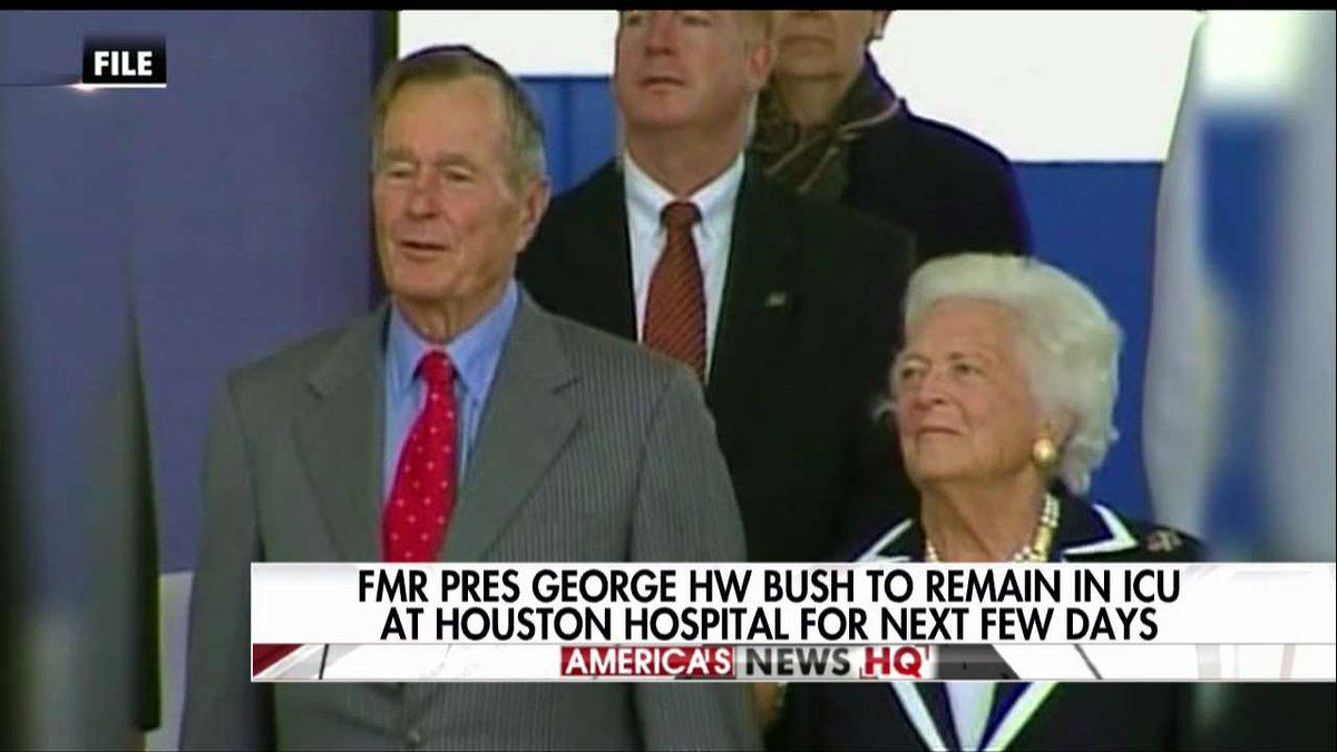 Former President George H.W. Bush to remain in ICU at Houston Hospital for next few days.