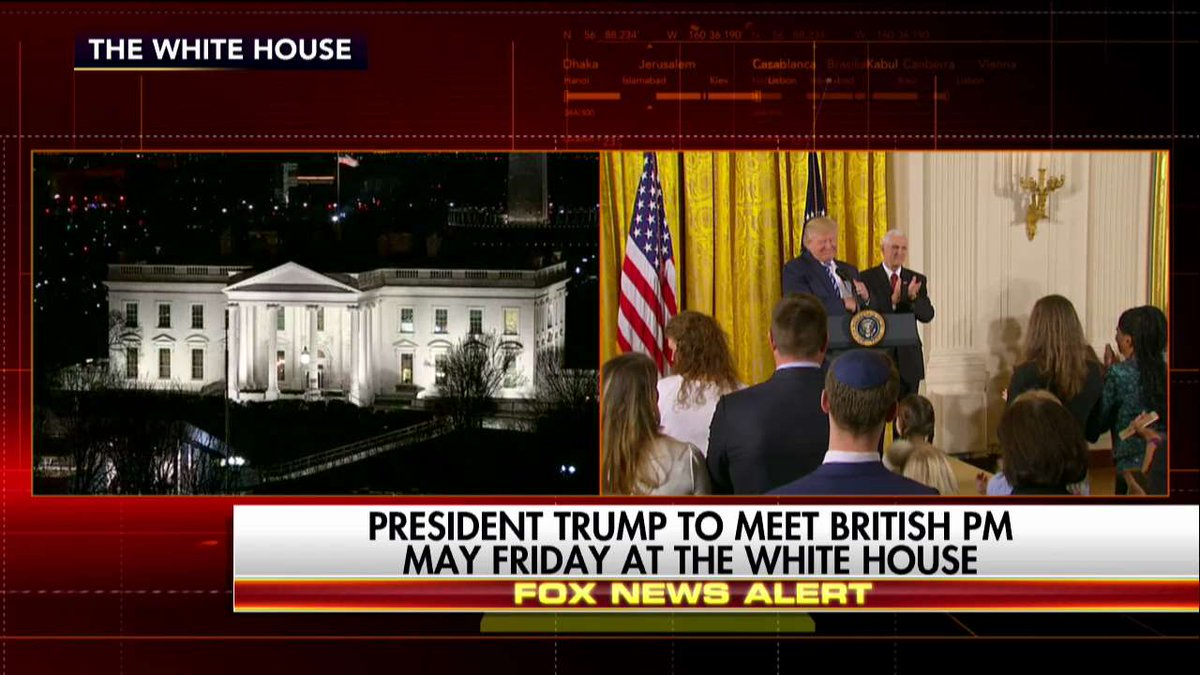 .@POTUS to meet British Prime Minister May Friday at the White House.