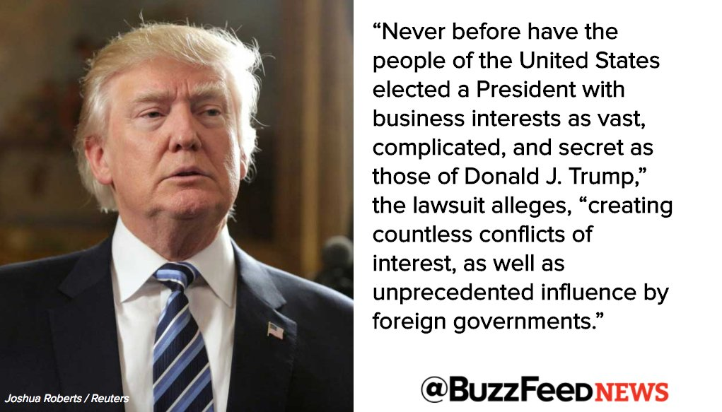 Top legal, ethics scholars to file first major lawsuit against President Trump on Monday https://t.co/cfJGlON815