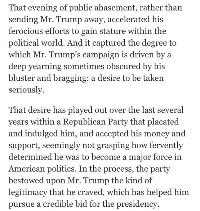Can't say how often I think of this story, about how being publicly ridiculed helped prompt President Trump to run https://t.co/M1OUA6EwKi