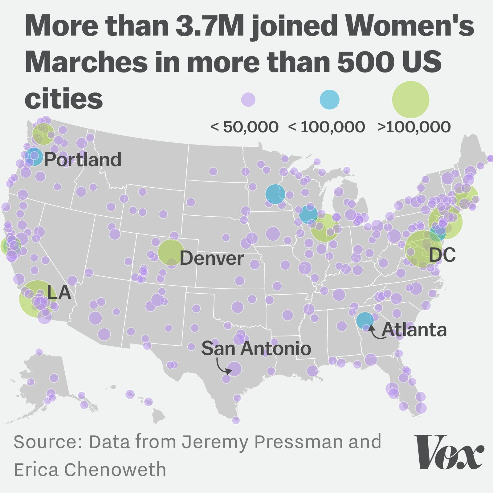 The Women's Marches may have been the largest demonstration in US history: https://t.co/08XDbQXDQf https://t.co/z8KW9s86qK