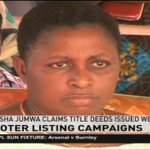 Aisha Jumwa claims title deeds issued by Jubilee are fake