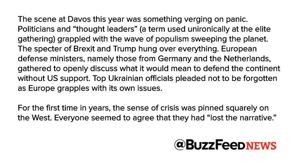 "Behind closed doors at Davos: ""Make elites great again"" https://t.co/dIetpEYuCj"