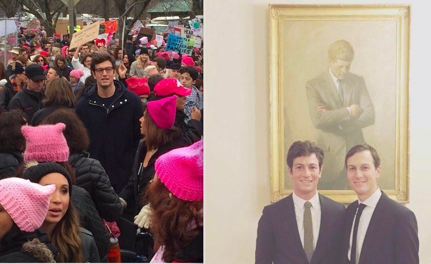 Kushner's brother goes from the #WomenMarch to the White House https://t.co/ULHspU7l0C