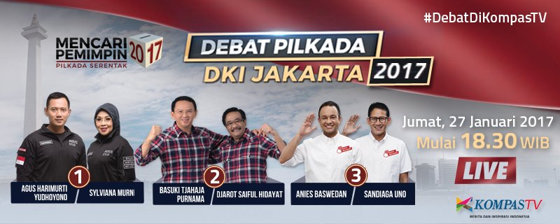 RT @KompasTV: Ayo nonton Debat Pilkada DKI Jumat pukul 18.30 WIB. Ramaikan dgn tagar #DebatdiKompasTV https://t.co/m0g6pMFNuC